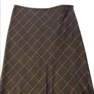 Ann Taylor Loft brown A-Line wool skirt SZ 8P